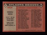 1986 Topps #51   Braves Team Checklist Back Thumbnail