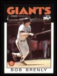 1986 Topps #625  Bob Brenly  Front Thumbnail
