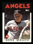 1986 Topps #81  Gene Mauch  Front Thumbnail