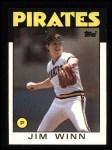 1986 Topps #489  Jim Winn  Front Thumbnail