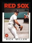 1986 Topps #424  Rick Miller  Front Thumbnail