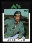 1986 Topps #536  Jose Rijo  Front Thumbnail