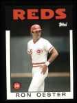 1986 Topps #627  Ron Oester  Front Thumbnail
