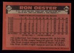 1986 Topps #627  Ron Oester  Back Thumbnail
