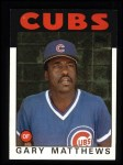 1986 Topps #485  Gary Matthews  Front Thumbnail