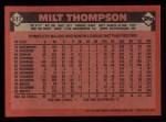 1986 Topps #517  Milt Thompson  Back Thumbnail