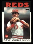 1986 Topps #195  Dave Concepcion  Front Thumbnail