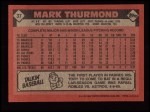 1986 Topps #37  Mark Thurmond  Back Thumbnail