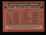 1986 Topps #366   Reds Leaders Back Thumbnail