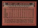 1986 Topps #634  Roy Lee Jackson  Back Thumbnail