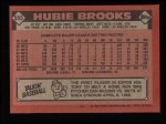 1986 Topps #555  Hubie Brooks  Back Thumbnail