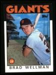 1986 Topps #41  Brad Wellman  Front Thumbnail
