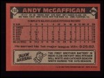 1986 Topps #133  Andy McGaffigan  Back Thumbnail