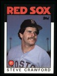 1986 Topps #91  Steve Crawford  Front Thumbnail