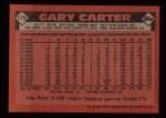 1986 Topps #170  Gary Carter  Back Thumbnail