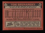1986 Topps #565  Tom Brunansky  Back Thumbnail