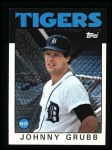 1986 Topps #243  Johnny Grubb  Front Thumbnail