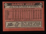 1986 Topps #619  Danny Heep  Back Thumbnail