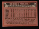1986 Topps #431  George Frazier  Back Thumbnail