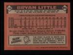 1986 Topps #346  Bryan Little  Back Thumbnail