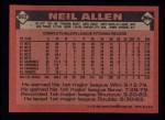 1986 Topps #663  Neil Allen  Back Thumbnail
