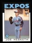 1986 Topps #472  Joe Hesketh  Front Thumbnail