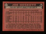 1986 Topps #472  Joe Hesketh  Back Thumbnail