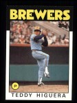 1986 Topps #347  Teddy Higuera  Front Thumbnail