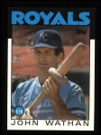 1986 Topps #128  John Wathan  Front Thumbnail
