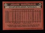 1986 Topps #128  John Wathan  Back Thumbnail