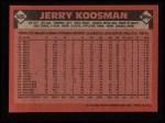 1986 Topps #505  Jerry Koosman  Back Thumbnail
