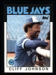 1986 Topps #348  Cliff Johnson  Front Thumbnail