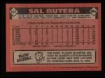 1986 Topps #407  Sal Butera  Back Thumbnail