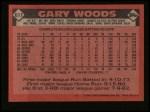 1986 Topps #611  Gary Woods  Back Thumbnail