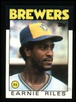 1986 Topps #398  Earnie Riles  Front Thumbnail