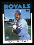1986 Topps #415  Hal McRae  Front Thumbnail