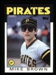 1986 Topps #114  Mike C. Brown  Front Thumbnail