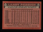 1986 Topps #238  Larry Parrish  Back Thumbnail