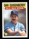 1986 Topps #722   -  Dan Quisenberry All-Star Front Thumbnail