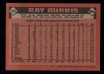 1986 Topps #106  Ray Burris  Back Thumbnail