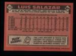 1986 Topps #103  Luis Salazar  Back Thumbnail