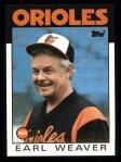 1986 Topps #321  Earl Weaver  Front Thumbnail