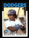 1986 Topps #602  Mariano Duncan  Front Thumbnail