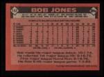 1986 Topps #142  Bob Jones  Back Thumbnail