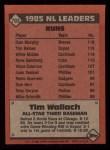1986 Topps #703   -  Tim Wallach All-Star Back Thumbnail