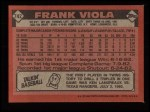 1986 Topps #742  Frank Viola  Back Thumbnail