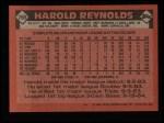 1986 Topps #769  Harold Reynolds  Back Thumbnail