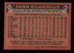 1986 Topps #253  Dann Bilardello  Back Thumbnail