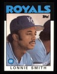 1986 Topps #617  Lonnie Smith  Front Thumbnail