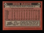 1986 Topps #265  Ron Davis  Back Thumbnail